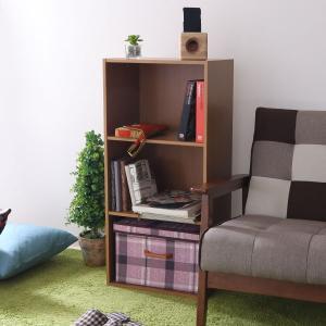 木製カラーボックス 3段 三段 ピーチ シンプルデザインがおしゃれ ラック 書棚 本棚 CD DVD 小物 収納 便利 HP943 93500|creativelife