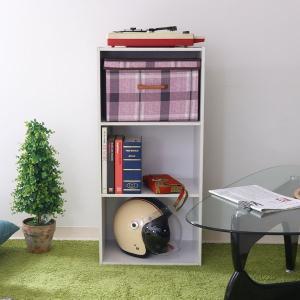 カラーボックス 3段 三段 ホワイト ラック 書棚 本棚 CD DVD 小物 HP943 93501|creativelife