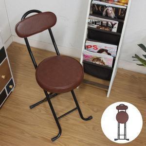 スリムチェア 完成品 折りたたみチェア チェア 椅子 収納 ブラウン ブラック 94774