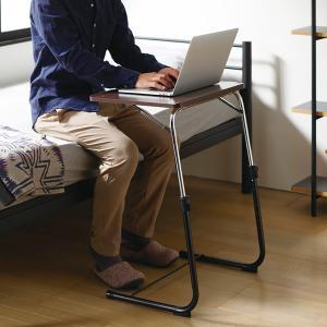 フォールディングテーブル 折りたたみテーブル サイドテーブル ナイトテーブル 机 FLS-1 (BR) creativelife