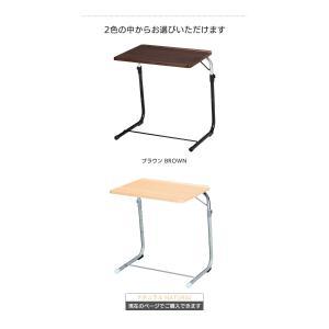 フォールディングテーブル 折りたたみテーブル サイドテーブル ナイトテーブル 机 ベッドサイド 折畳み 折り畳み 角度調整 高さ調整 多目的 パソコン FLS-1(NA)|creativelife|04
