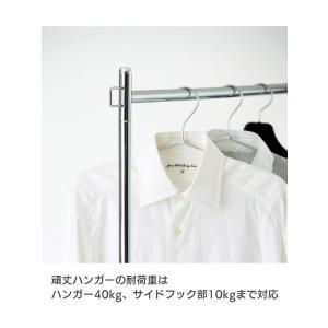 ハンガーラック 幅59.5cm キャスター付き 頑丈ハンガー コートハンガー 洋服掛け 収納 MH-595 (BK)|creativelife|03