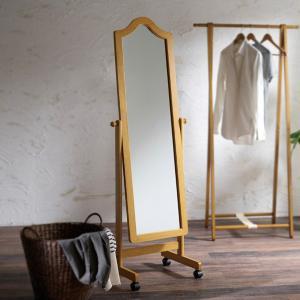 スタンドミラー 全身鏡 ミラー 鏡 玄関 姿見 木製フレーム...