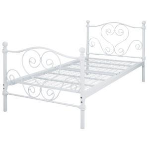 お姫様ベッド シングルベッド ベッドフレーム パイプベッド アイアン 姫系 ホワイト BSK-919SS|creativelife|05