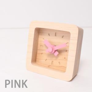 置時計 木製 かわいい北欧デザイン置き時計 おしゃれ卓上時計 四角 Bit|creatorplaneta|02