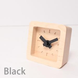 置時計 木製 かわいい北欧デザイン置き時計 おしゃれ卓上時計 四角 Bit|creatorplaneta|03