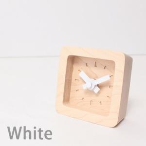 置時計 木製 かわいい北欧デザイン置き時計 おしゃれ卓上時計 四角 Bit|creatorplaneta|04
