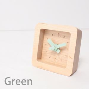 置時計 木製 かわいい北欧デザイン置き時計 おしゃれ卓上時計 四角 Bit|creatorplaneta|05