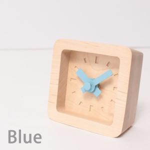 置時計 木製 かわいい北欧デザイン置き時計 おしゃれ卓上時計 四角 Bit|creatorplaneta|06