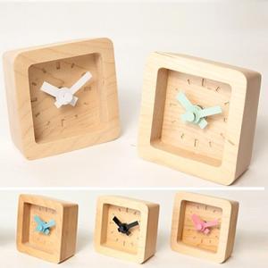 置時計 木製 かわいい北欧デザイン置き時計 おしゃれ卓上時計 四角 Bit|creatorplaneta|09