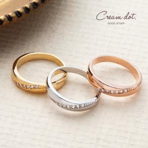ペアリング リング 指輪 レディース メンズ エタニティ 重ね付け ピンクゴールド シルバー ゴールド エレガント シンプル ゆうパケット送料無料