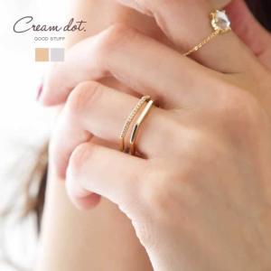 リング 指輪 ダブルライン レディース 重ね着け シルバー ゴールド 細身 華奢 12号 結婚式 大人ゆうパケットOK