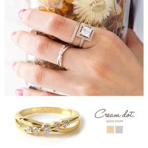 【今ダケ全品送料無料⇒9月20日23:59迄】リング 指輪 ビジュー クロスリング デザインリング シンプル シンプル ゴールド デイリー 結婚式 カジュ