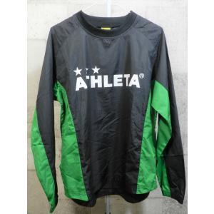 美品 アスレタ ピステ トップ S 黒/緑 ATHLETA ジャケット トレーニング プラクティス|creep-shopping