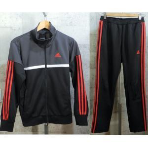 美品 アディダス ジャージ 上下セットアップ 黒灰赤 S adidas メンズ creep-shopping