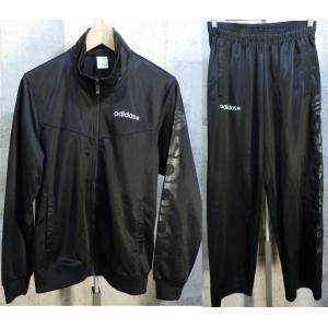 美品 adidas NEO ジャージ 上下セットアップ 黒黒 M メンズ アディダス ネオ creep-shopping