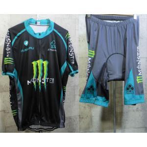 モンスターエナジー サイクルジャージ 上下セットアップ 2XL monster energy 半袖 サイクリング カステリ コルナゴ スバル creep-shopping