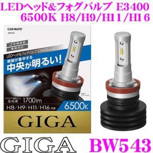 カーメイト GIGA BW543 LEDヘッド&フォグバルブ E3400シリーズ 6500K H8/H9/H11/H16タイプ creer-net