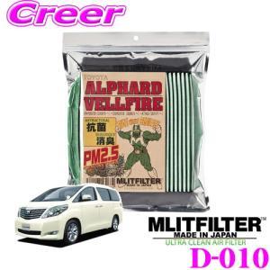 MLITFILTER エムリットフィルター D-010 アルファード ヴェルファイア 専用エアコンフィルターの商品画像|ナビ