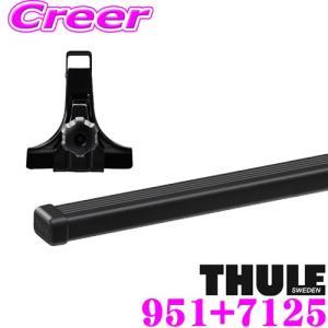 ・THULEのベースキャリア2点セットです。 ・安全確実なレインガーター装備用ベースフット951、漆...