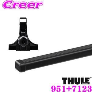 日本正規品 THULE スズキ エブリィ・ワゴン (DA64W 標準ルーフ) ルーフキャリア2点セット フット951&バー7123セット バーTH769後継|クレールオンラインショップ