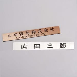 材 質 :2層アクリル板(レーザー彫刻) 厚 さ :1.5mm サイズ :40mm×280mm(小さ...
