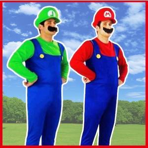 ハロウィンで大人気のスーパーマリオのコスチューム3点セット  【セット内容】Tシャツ、サロペット、帽...