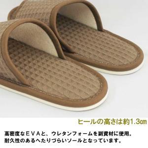 スリッパ 子供用 太ワッフル外縫い 約21cmまで 日本製 洗える シンプル ナチュラル 職人 ハキハキ工房|creo|03