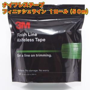 ナイフレステープ フィニッシュライン 3.5mm幅×50m巻 カットテープ ラッピング用 knifelesstape|crescent-ss