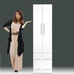 ワードローブ 洋服タンス クローゼット 一本立ち完成品 ハンガーラック 幅50cm 高さ180cm GOK|crescent