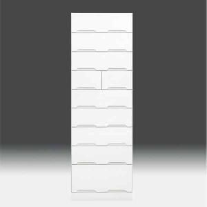 チェストタンス タワーチェスト 日本製 一本立ち完成品 幅60cm 9段 高さ180cm ハイタイプ 白 ホワイト 鏡面仕上げ GOK|crescent