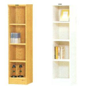 木製収納ラック 幅28cm 高さ117cm 2色対応 crescent