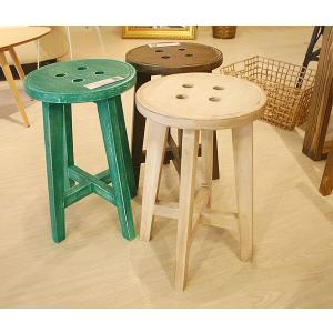 スツール アイボリー/グリーン/ブラウン チェア イス 椅子 いす アンティーク風仕上げ azbotnstool  白家具 カントリーチック m006- 限界価格 クーポン除外品|crescent