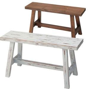 花台 アイボリー/ブラウン アンティーク風仕上げ 白家具 カントリーチック  m006-|crescent