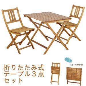テーブル3点セット 幅90cm ダイニングテーブルセット アカシア材 オイル仕上げ m006-|crescent