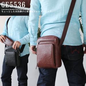 ミニショルダーバッグ 合皮 20cm 斜め掛けバッグ 肩掛けバッグ メンズ 鞄 カバン  あすつく|crescent