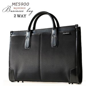 メンズビジネスバッグ ナイロン&合皮 撥水加工 A4ファイル対応 2層式 2WAY 軽量 軽い バッグ ビジネスバック ブリーフケース あすつく アウトレット|crescent