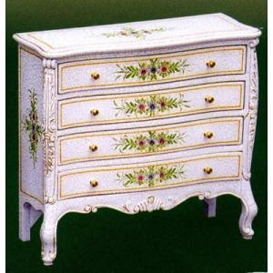 輸入家具 白家具 ジュエリーBOX クラック塗装 アウトレット特価   白い輸入家具|crescent