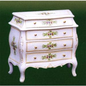 輸入家具 白家具 ジュエリーBOX アウトレット特価 クラック塗装|crescent