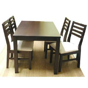 ダニングセット シンプル モダン 5点セット アジアンシンプルダイニングセット5点 食卓テーブルセット 4人用 ダイニングテーブルセット 食卓|crescent