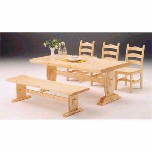 ダイニング5点 カントリー 180サイズ/ベンチ GSR 食卓テーブルセット 4人用|crescent