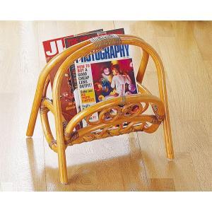 籐家具 マガジンラック 雑誌収納 ラタン 収納ラック|crescent