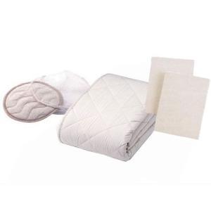 セミダブルロング用寝装品 英国ウールウォッシャブル3点パック|crescent