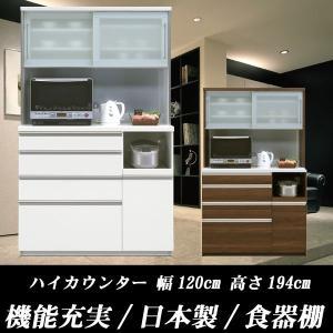 食器棚 ダストボックス付き ポイント10倍  26.5L×2個  幅120cm 高さ194cm gen-art1200r ARTシリーズ SSG   開梱設置送料無料|crescent