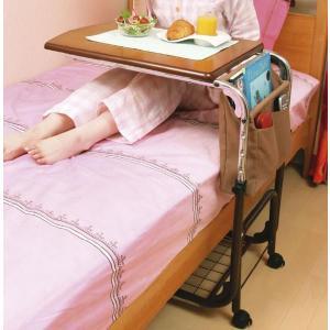 マルチサイドテーブル ベッドテーブル、サイドテーブルに 介護用にも|crescent