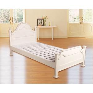 ベッド シングル 輸入家具 フレームのみ SA-C-1717-W|crescent