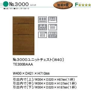 浜本工芸 No3000ユニットチェスト(W40) ユニットボード用下台のみ 幅40cm 2014 |crescent