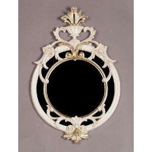 イタリア製 エレガントでゴージャスな鏡 壁掛け 吊り鏡 送料無料|crescent