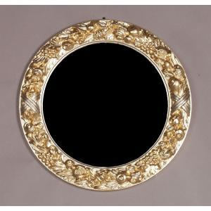 イタリア製 エレガントでゴージャスな鏡 壁掛け 吊り鏡|crescent
