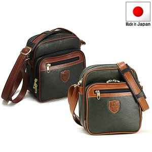ショルダーバッグ 立型 18cmサイズ 合皮 メンズ 日本製 豊岡の鞄 豊岡製  16215 さらに特典付き 特選|crescent